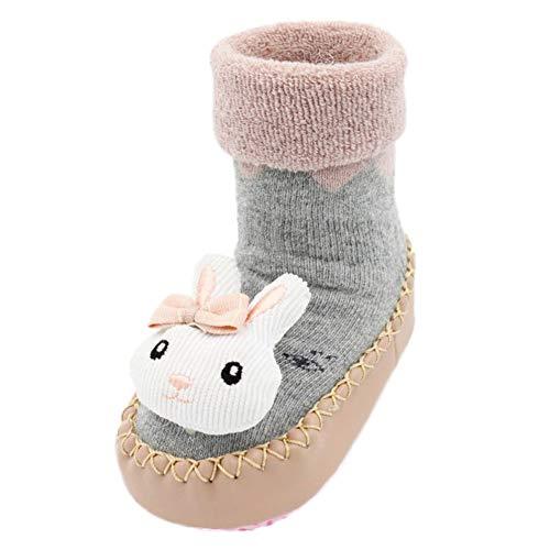 JERFER Boden Socken Rutschfeste Gummisohlen Schuhe-Premium Weich Leder Babyschuhe Jungen und Mädchen Babyschuhe - Neugeborene bis 1-3.5Jahre (11 EU, ()