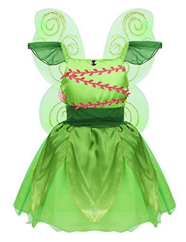 MSemis Disfraz Hada Bosque Niñas Vestido Tutú Princesa