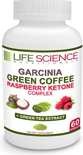 Extract Dr. Bean Coffee Oz (The Original 4-in-1 Garcinia Cambogia, Green Coffee Bean, Raspberry Ketones & Green Tea Extract 1300mg Dr. Oz Recommended For Fat Burn, Weight Loss & Appetite Suppressant by Life Science Nutritionals)