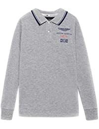 Polo Hackett LS AMR Gris