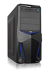 NOX NXPAX Midi-Tower Black computer case - computer cases (Midi-Tower, PC, SGCC, ATX,Micro-ATX, Black, Home/Office)