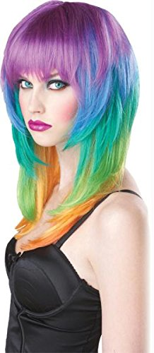 Perücke Kaleidoskop Halloween Kostüme Cosplay Wig Perücke Haar für Maskerade Make-up Party