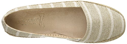 Aerosoles Solitaire Toile Espadrille Natural/Gold Metallic