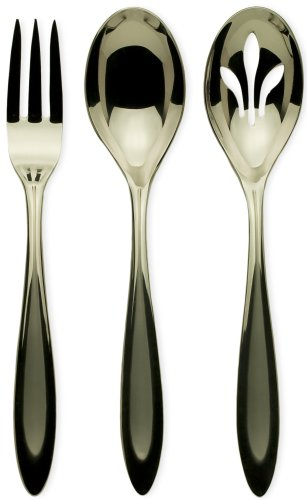 Ginkgo International Fontur Besteck-Set, Edelstahl, 20-teilig Hostess Set Satin Finished Stainless Steel|Metallics Satin Steel Spoon