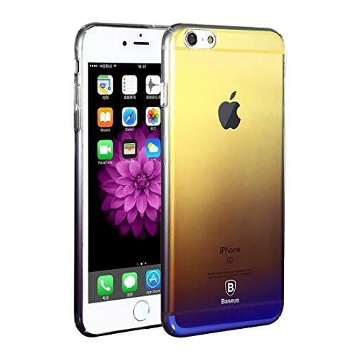 GHC Cases & Covers, Baseus für iPhone 6 Plus & 6s Plus Glaze PC Farbverlauf Farbschutzhülle ( Color : Black ) Black
