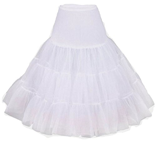 Fanhao Damen Unterrock Weiß - Weiß