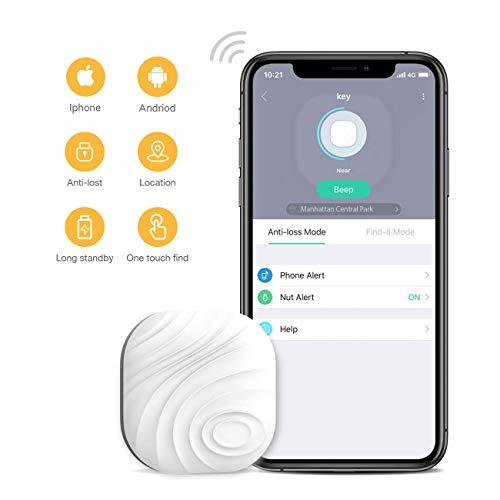 Famisafe Key Finder, Nut 3 Phone Finder Anti-Lost Bluetooth-Ortungsgerät für Schlüssel, Geldbörsen, Taschen mit App-Steuerung, kompatibel mit iOS und Android (weiß)