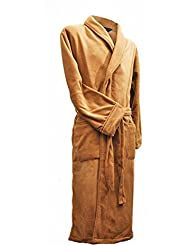Lloyd Attree & Smith - Robe de Chambre en Maille Polaire - Homme - Camel
