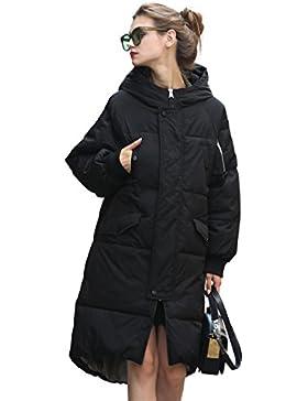 [Patrocinado]YOU.U Abrigo Acolchado Impermeable Invierno Ultra-caliente con Capucha Mujer