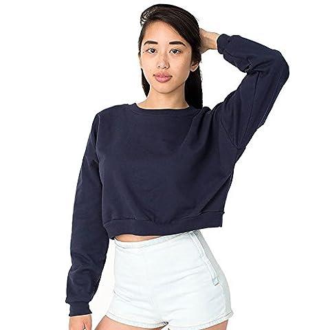 American Apparel - Sweat-shirt - Moderne - Femme Taille Unique - bleu - Taille Unique