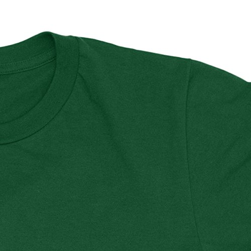 Herren-T-shirt California Authentic Good Vibes - gold print 100% bauwolle LaMAGLIERIA Grün
