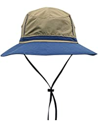 394dc3a7107 Magracy Mens Outdoor Wide Brim Sun Hat Summer Bucket Fishing Hats Unisex  boonie Safari Hat Foldable
