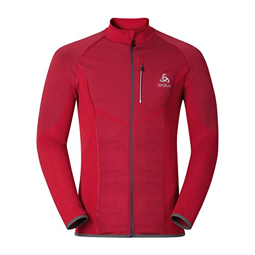 Odlo Herren Jacket Velocity Light Jacke, Jester red, L