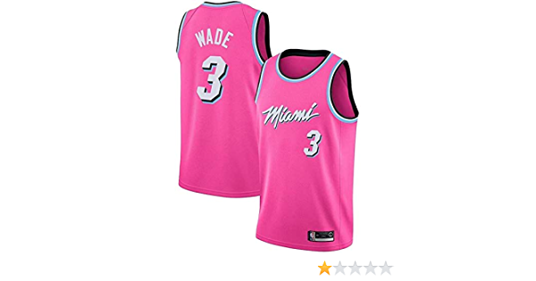 GEXING Dwayne Wade # 3 Miami Heat Jersey atmungsaktiv schnell trocknend /Ärmel Sport-Weste-Spitze