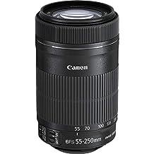 Canon EF-S 55-250 mm f/4-5.6 IS STM - Objetivo para canon (Distancia Focal 55-250mm, Apertura f/4-32, Zoom óptico 4.55x,estabilizador, diámetro: 58mm) Negro (Reacondicionado)