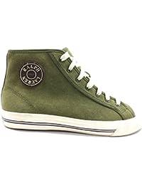 Zapatos Hombre D'ACQUASPARTA 40 EU Sneakers Verde Gamuza KY127