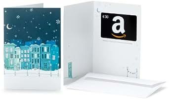 Amazon.de Grußkarte mit Geschenkgutschein - 30 EUR (Verschneite Stadt)