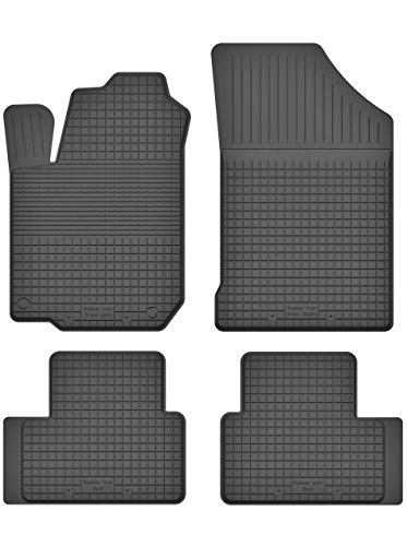 KO-RUBBERMAT Gummimatten Fußmatten 1.5 cm Rand geeignet zur OPEL AGILA B (Bj. 2007-2014) ideal angepasst 4 -Teile EIN Set