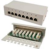 LogiLink Patch Panel 8-port CAT6 RJ45 Desktop vollgeschirmt