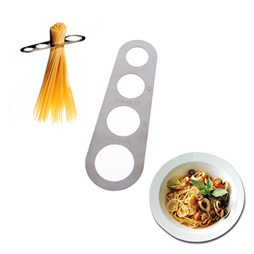 ADFEN 1x Stainless Steel Spaghetti Measure Tool with 4 Serving Portion