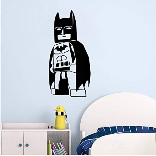(42X87cm Batman Wandtattoo Baby Superheld Spielzimmer Dekor Vinyl Wandkunst Aufkleber Tapete Kleine Jungen Raumdekoration Wandbilder)