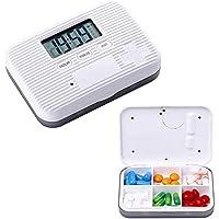 AOLVO Digitaler Automatischer Pillendose Pillenbox, 7 TageTablettendose Tablettenbox mit Alarmanzeigen, Pillen... preisvergleich bei billige-tabletten.eu