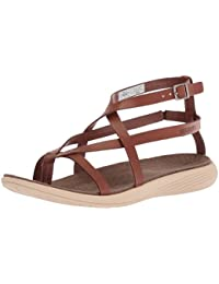 6101ba394214 Merrell Womens Ladies Duskair Seaway Thong Cushioned Leather Sandals
