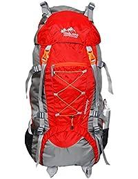 Himalayan Adventures 70 Ltrs Red Backpack/Rucksack/Travelling Bag/Hiking Bag/Adventure Bag/Camping Bag (Nylon,...