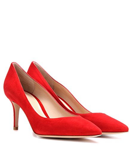 EDEFS 65mm Kitten Heels Klassische Damen Pumps Pointed Toe Kleid Brautschuhe Partei Büro Geschlossen Pumps Rote