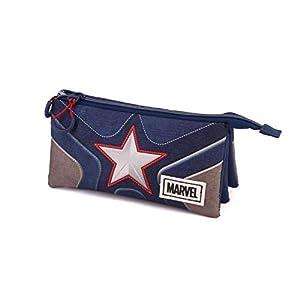 Karactermania Captain America Suit-astuccio Portatutto Triplo HS Estuches 24 Centimeters Multicolor (Multicolour)