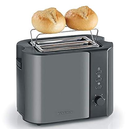 SEVERIN-AT-9541-Automatik-Toaster-800-W-Inkl-Brtchen-Rstaufsatz-2-Rstkammern-metallic-grauschwarz