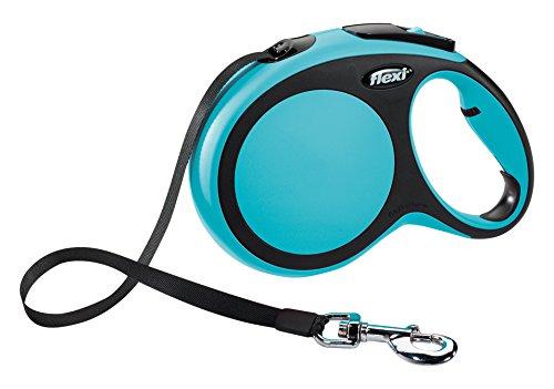 Flexi-New-Comfort-Retractable-Tape-Lead-Large-8-m-Blue