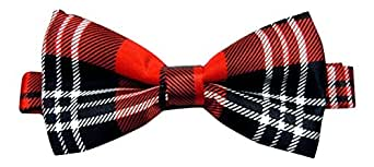 Mens Red Tartan Royal Stewart Bow Tie One Size
