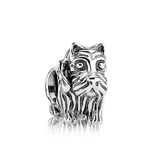 PLOOKIJUH Neue 100% 925 Sterling Silber Schnauzer Welpen Charme 1: 1 Fit DIY Frauen Europäischen Stil Armband OriginalSchmuck Geschenk