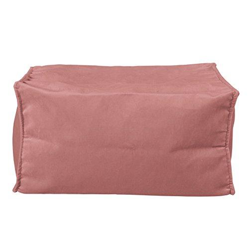 Lounge Pug Fußhocker Pouf, Samt Pink