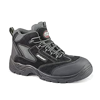 AirSafe Non Matalic Safety Boots Composite Toe Cap No Metal Construction AS-C5 (UK 10, EU 44, Black)