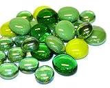 Glas Mosaik Fliesen Nuggets grün mix abgerundet Gems