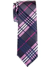 Retreez Stylish Tartan Plaid Check Woven Microfiber Skinny Tie - Various Colors