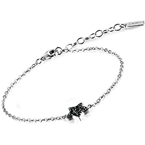 Dormith® Plata de ley 925 estrella negro pulseras diamante checo para las mujeres moda joyas pulsera de plata