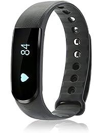 iMusi Bracelet Connecté Tracker d'activité Avec Fonction Stop-Watch Smartwatch bluetooth 4.0 - Noir