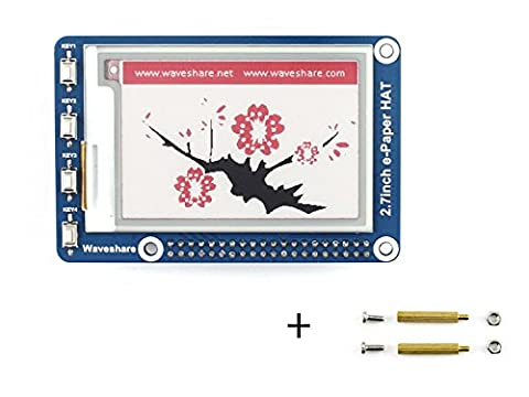 Tri-color 2.7inch E-Ink display HAT Resolution 264x176 3.3v E-paper Electronic Screen Panel Three-color with Embedded Controller SPI Interface for Raspberry Pi/STM32/Arduino