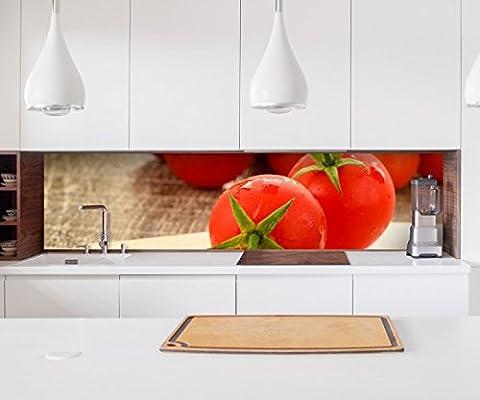 Aufkleber Küchenrückwand Tomate rot Tomaten Küche Gemüse Obst Kochen Folie