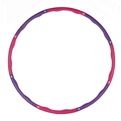 DYHQQ Weighted Hula Hoop Für Erwachsene, 8 Abschnitte Abnehmbar und Größe Einstellbar Design-Übung, Soft Fitness Hula Hoop Reifen
