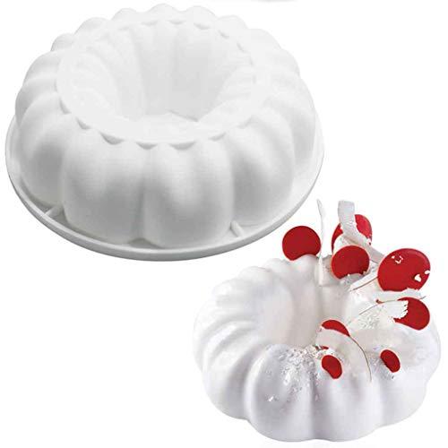 Kakiyi Blumenkranz Silikon Backform Mousse Dessert-Form-Backen-Form Dekorative DIY-Küche-Werkzeug