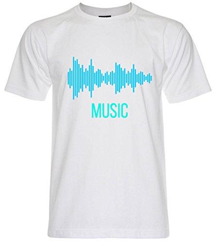 PALLAS Unisex's Sound Music Equalizer T Shirt White
