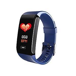 Hunterace Reloj Inteligente Hombre o Mujer, con Monitor de frecuencia cardíaca, con Contador de Pasos, multifunción, Resistente al Agua, Pulsera Inteligente (3 Colores) 4