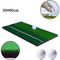 Esterilla portátil para práctica de golf 60 x 30 cm, Alfombrilla de práctica con hierba de golf para entrenamiento en interiores y exteriores, Alfombra de Práctica para deportes con tee de golf