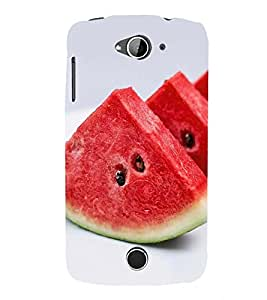 Fuson Premium Water Melon Printed Hard Plastic Back Case Cover for Acer Liquid Z530