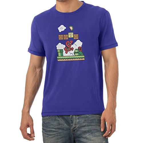 TEXLAB - Super Pool World - Herren T-Shirt Marine