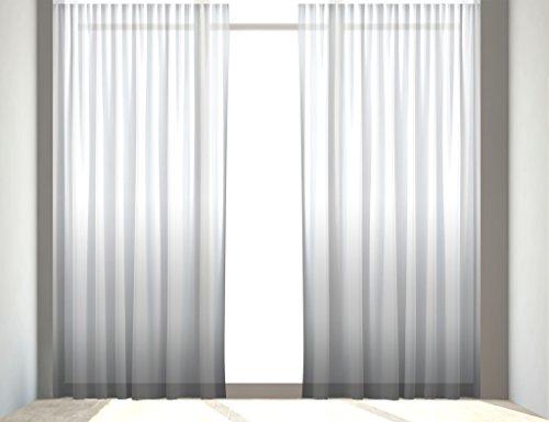 """Gardine nach Maß, """"Colour Dream"""" Kräuselband Vorhang nach Maß, Gardinen nach Maß (Light Grey, 120 x 350 cm /HxB)"""